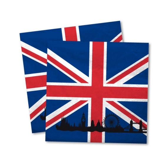 Image of Engeland decoratie servetten 20x