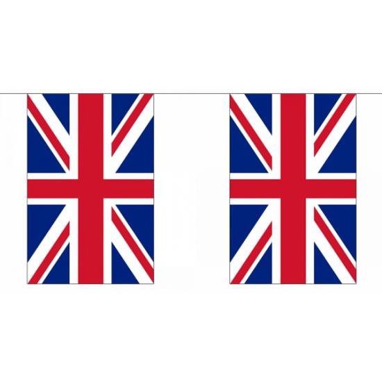 Engeland vlaggenlijn rechthoekig