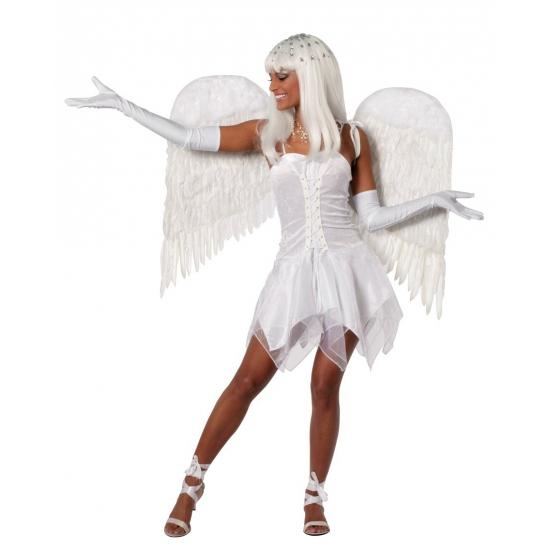 Image of Engelen jurk dames wit