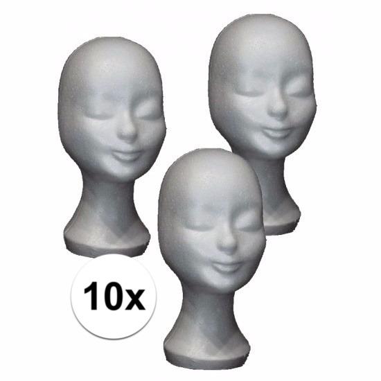 Image of Etalage materiaal piepschuimen hoofden 10x