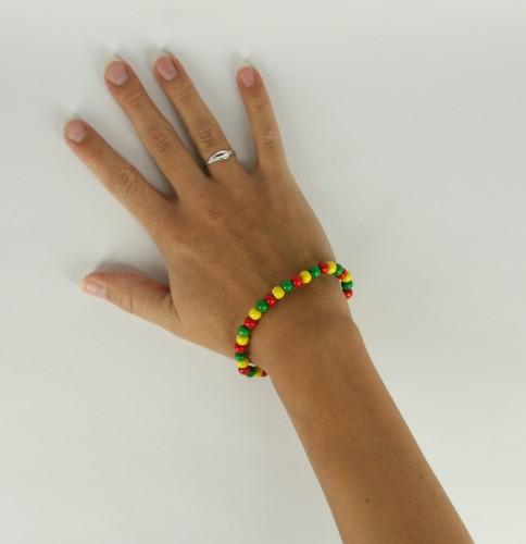 Image of Fan armband rood geel groen