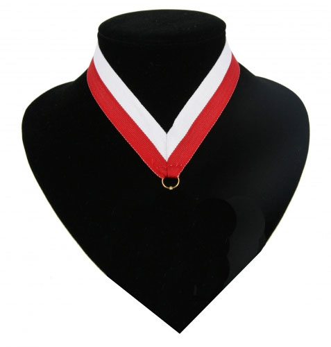 Image of Fan halslint rood en wit