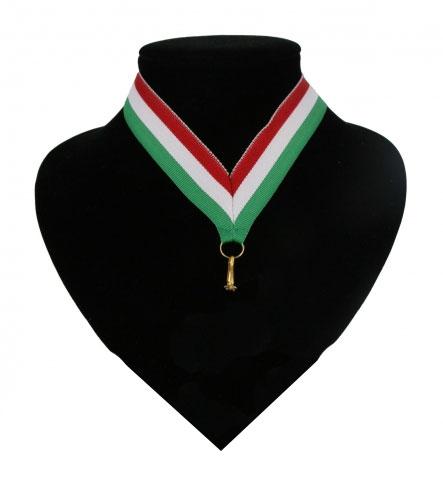 Image of Fan halslint rood, wit en groen