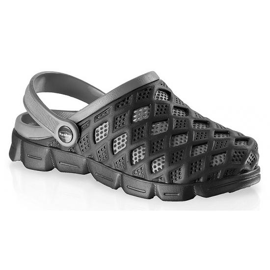 Image of Fashy waterschoenen clogs zwart/grijs