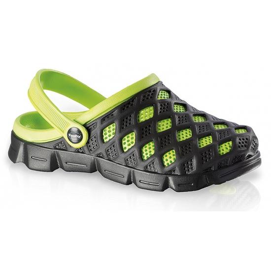 Image of Fashy waterschoenen clogs zwart/groen