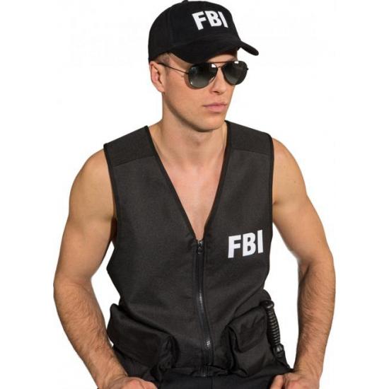 Image of FBI pet zwart voor volwassenen