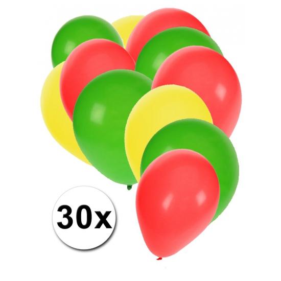 Feest ballonnen in de kleuren van Bolivia 30x