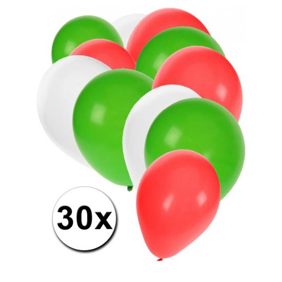 Image of Feest ballonnen in de kleuren van Bulgarije 30x