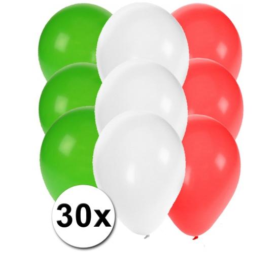 Image of Feest ballonnen in de kleuren van Mexico 30x
