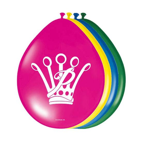 Image of Feest ballonnen Prinses 8 stuks