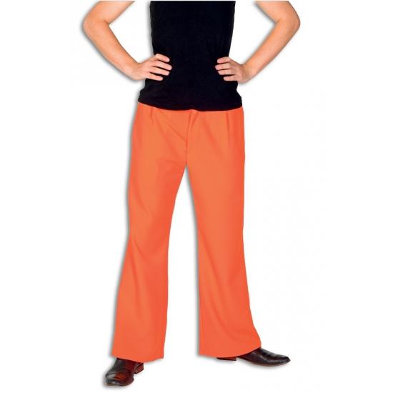 Feest broek oranje voor heren