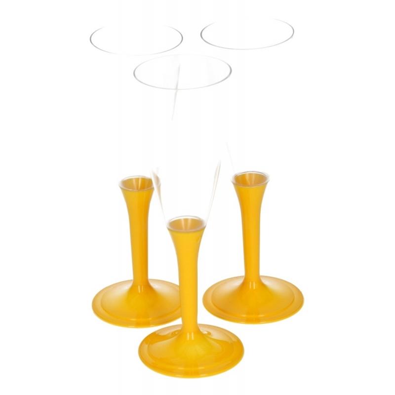 Image of Feest glazen met gele voet 10 stuks