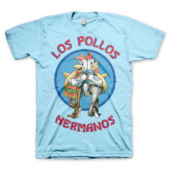 Image of Feest Los Pollos Hermanos shirt blauw