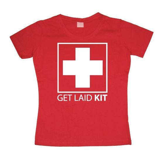 Image of Feest shirt Get Laid Kit dames