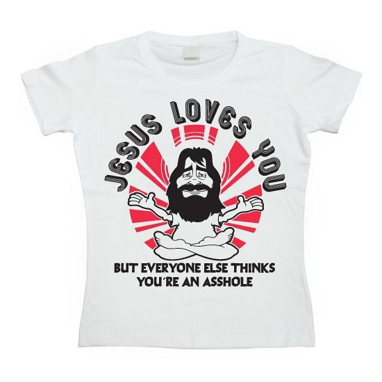 Image of Feest shirt Jesus Loves You dames