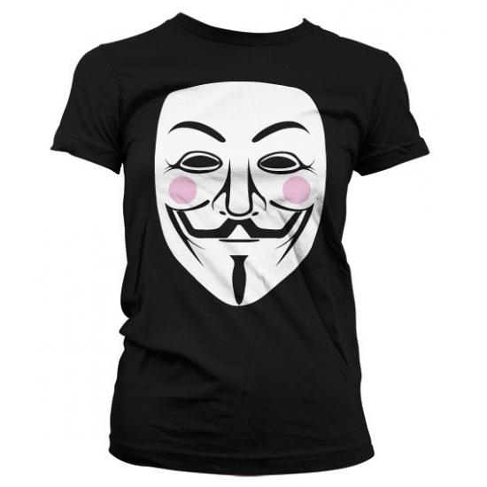 Image of Feest shirt V for Vendetta dames