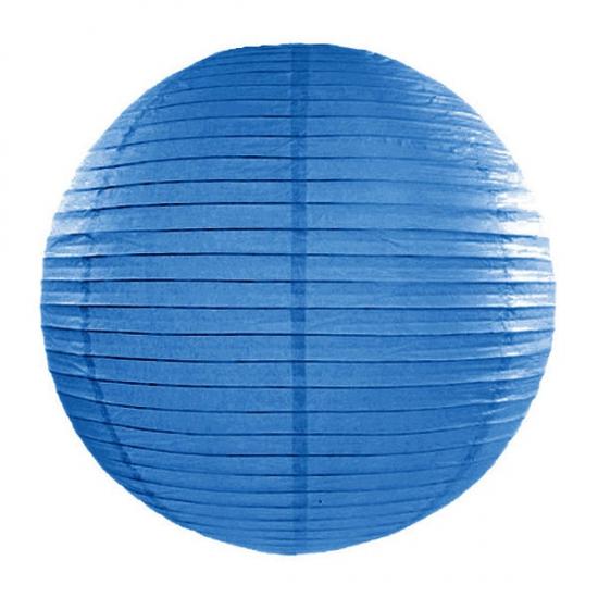 Image of Feest versiering ronde blauwe lampion 35 cm