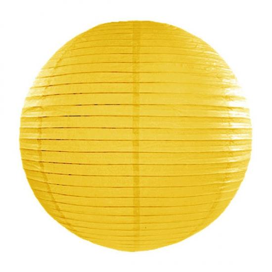 Image of Feest versiering ronde gele lampion 35 cm