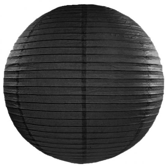 Image of Feest versiering ronde zwarte lampion 50 cm