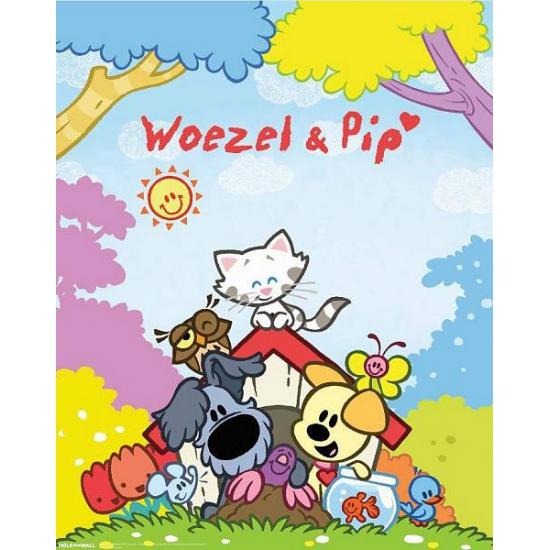 Image of Feest versiering Woezel en Pip poster