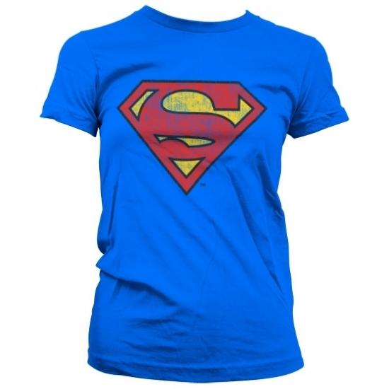 Image of Feest vintage Superman logo dames shirt