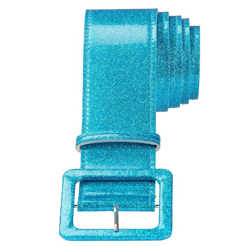 Image of Feestartikel glitter riem blauw