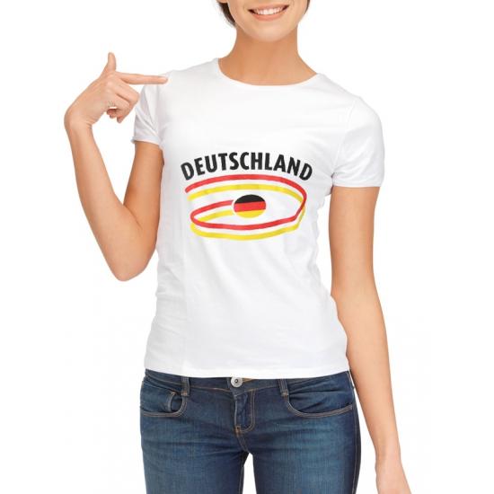 Image of Feestartikelen dames t-shirt vlag Deutschland