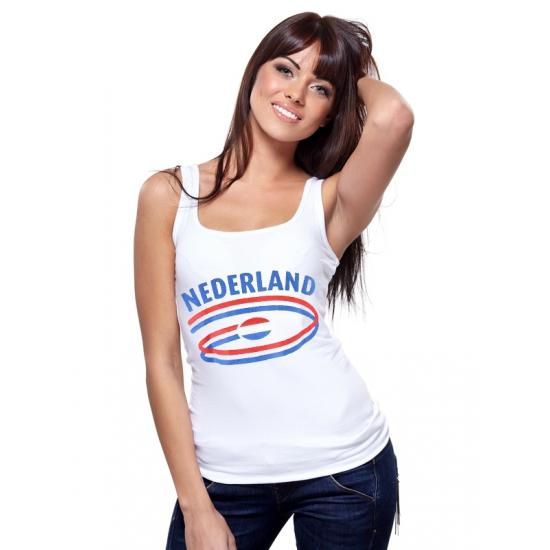 Feestartikelen dames tanktop vlag Nederland