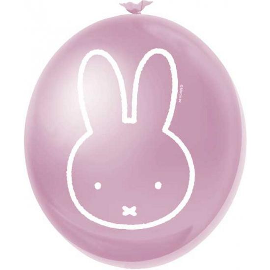 Image of Feestartikelen Nijntje ballonnen roze