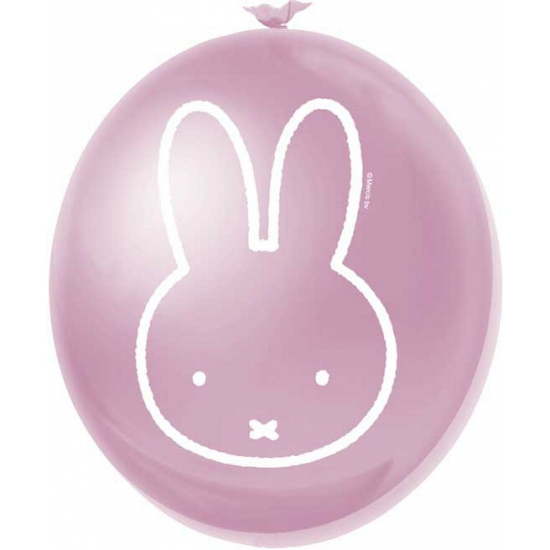 Feestartikelen Nijntje ballonnen roze