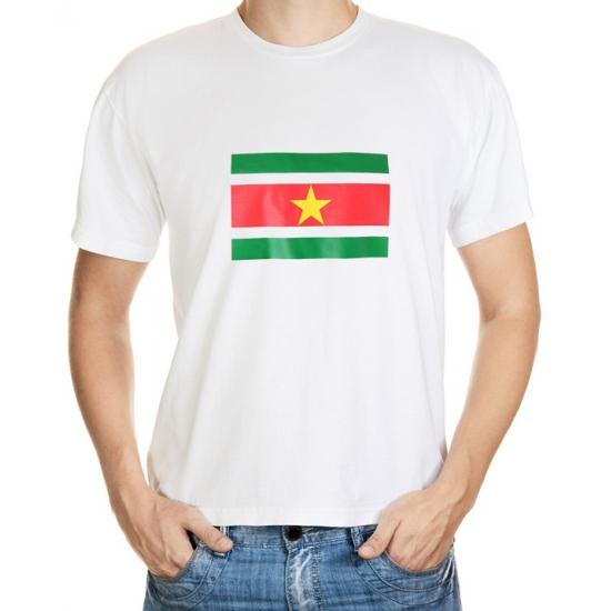 Image of Feestartikelen t-shirt vlag Suriname