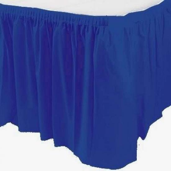 Image of Feestartikelen tafel rand blauw