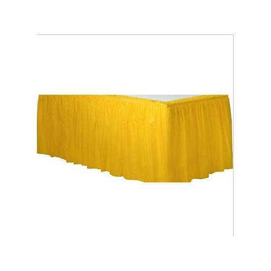 Image of Feestartikelen tafel rand geel