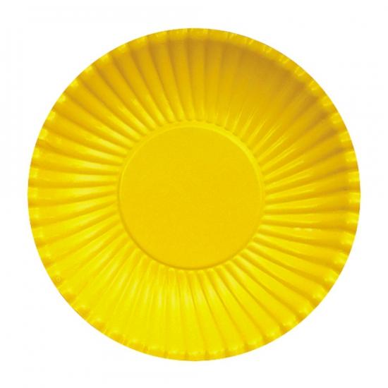 Image of Feestbordjes geel 23 cm