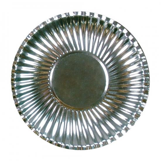 Image of Feestbordjes metallic zilver 23 cm