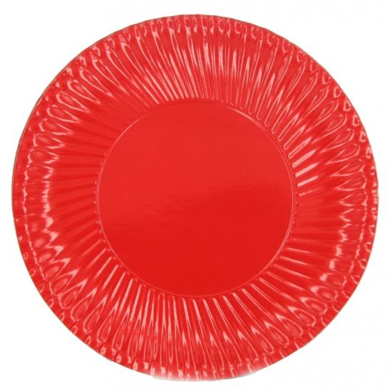 Image of Feestbordjes rood 23 cm