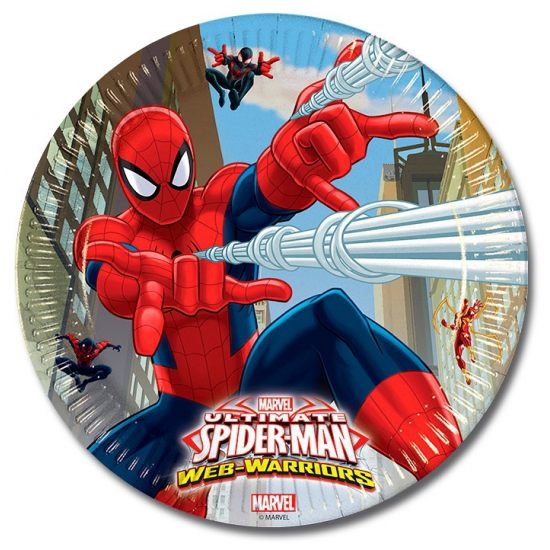 Image of Feestbordjes Spiderman 8 stuks