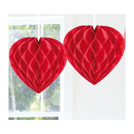 Image of Feestversiering rood decoratie hart 30 cm
