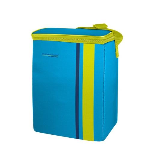 Image of Fel blauw met groene koeltas 9 liter