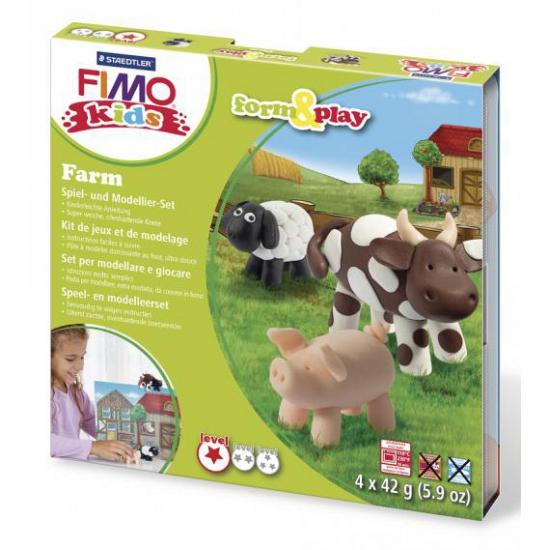 Image of Fimo kids klei hobby pakket boerderij