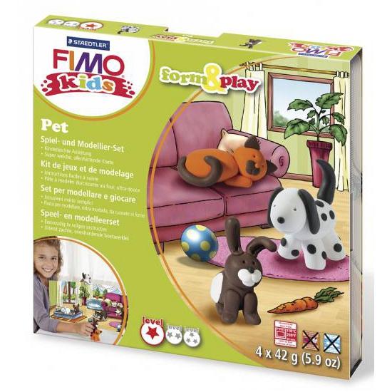 Image of Fimo kids klei hobby pakket huisdier