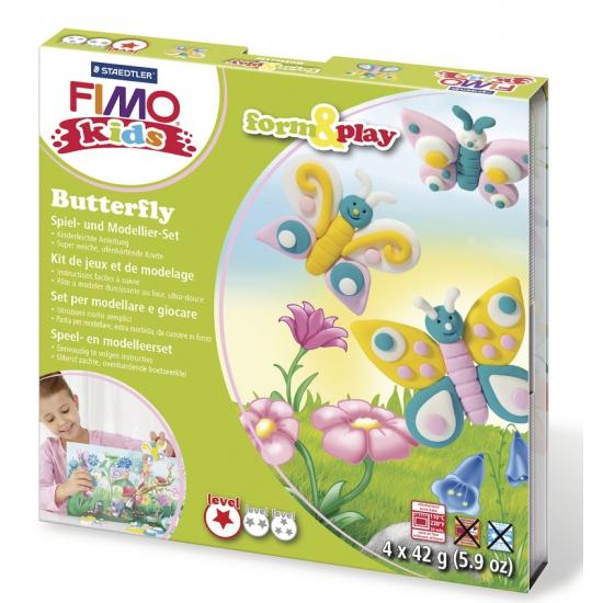 Image of Fimo kids klei hobby pakket vlinder