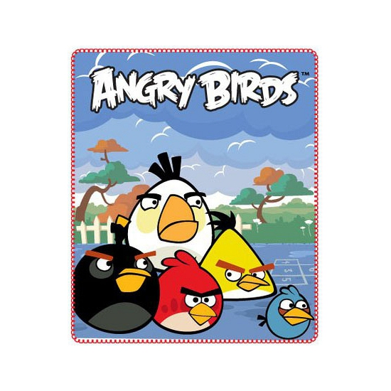 Image of Fleece deken Angry Birds blauw