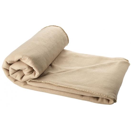 Image of Fleece deken beige 150 x 120 cm