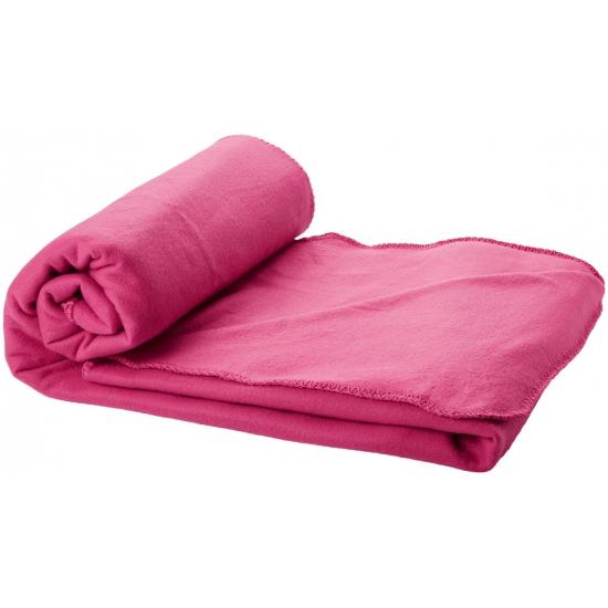 Image of Fleece deken roze 150 x 120 cm
