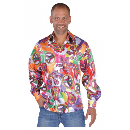 Flower power blouses heren Fun