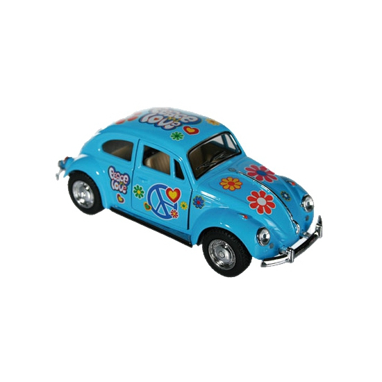 Image of Flower Power modelauto blauwe Kever