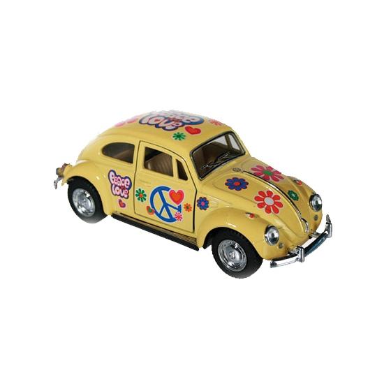 Image of Flower Power modelauto gele Kever