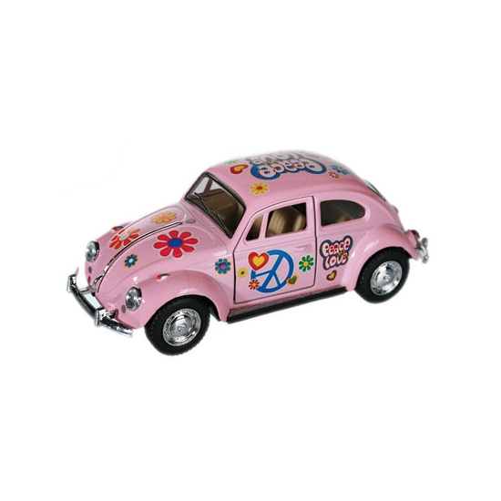 Image of Flower Power modelauto roze Kever