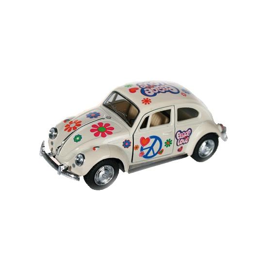 Image of Flower Power modelauto witte Kever